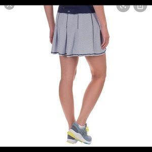 Kyodan pleated white and black striped skort XS